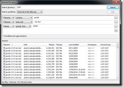 صندوق البحث فى برنامج ال Ftp filezilla