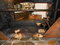Wood fired grill with steak done to order!
