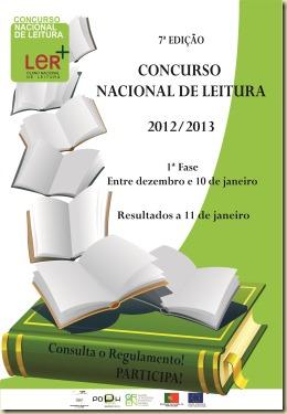 Concurso Nacional De leitura - Cartaz Fim