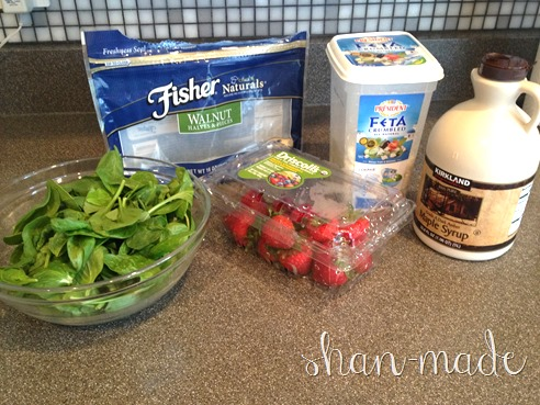 Strawberry Maple-Walnut Salad