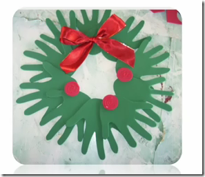 Navidad manualidades ni os corona hecha con manos - Manualidades de navidad para ninos pequenos ...