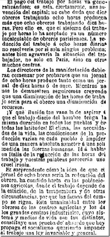 1890-04-28 - El Liberal - 01 (Críticas al 1º de Mayo - 2)