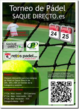 """Torneo de Pádel """"Saque Directo y Retos Pádel"""" en el Club Brains de Madrid, 24 y 25 marzo."""