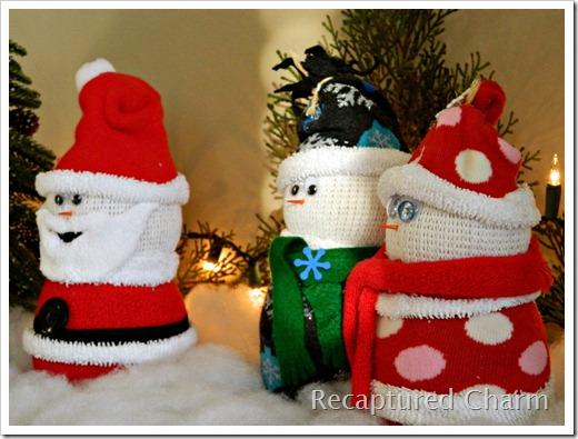 Sock Snowman Sock Santa 023a