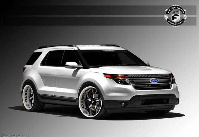2013 Ford Explorer Sport, 3.5L EcoBoost, Six-Speed SelectShift Automatic Transmission, 4WD - Built by Forgiato