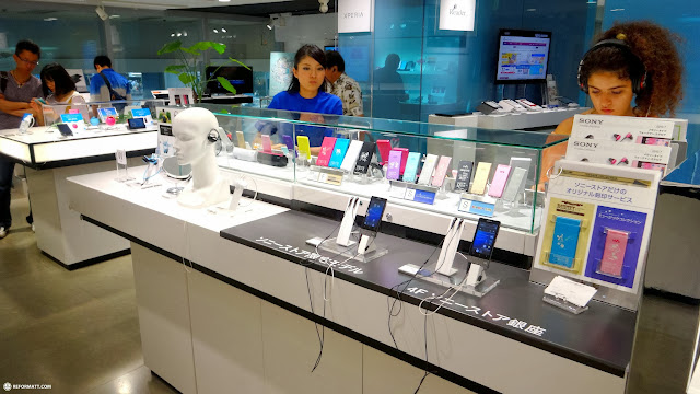 new SONY products on display at the SONY building in Ginza, Tokyo in Ginza, Tokyo, Japan