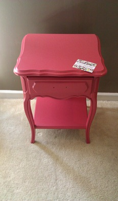 coral french side table