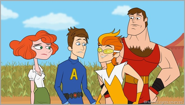 Some of the motley crew that is THE AWESOMES. A Hulu exclusive. CLICK IMAGE to enlarge.