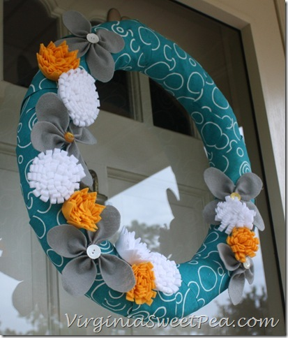 Felt Flower Wreath2