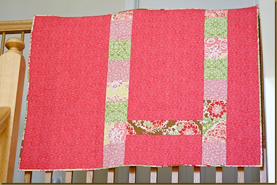 8 back of the quilt