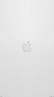 Apple logo white wallpaper