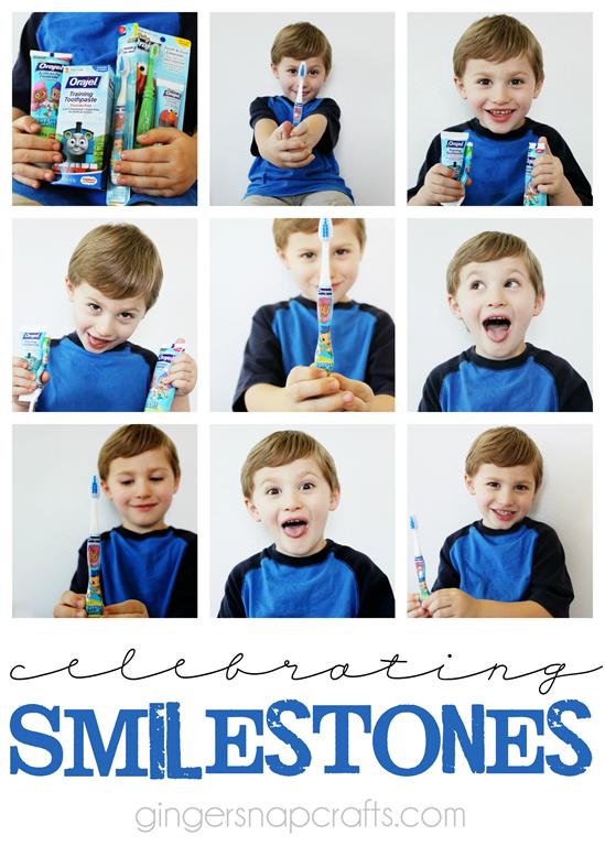 Celebrating Smilestones #orajel #smilestones #sponsored GingerSnapCrafts.com