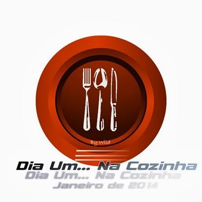 Logotipo Dia Um... Na Cozinha Janeirol