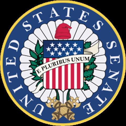 Chapéu frígio no selo do Senado dos Estados Unidos