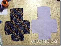 artemelza - bolsa de feltro duplo