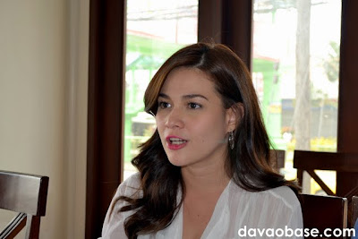 Bea Alonzo talks to us over lunch at The Swiss Deli Restaurant