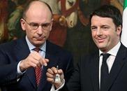 Il cambio di guarda gelido tra Letta e Renzi