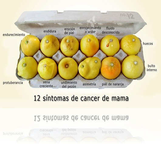 12 sintomas del cancer de mama