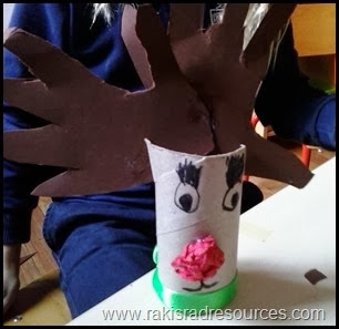 Toilet paper tube reindeer and snowmen - a great Christmas craft for kids - featured on Raki's Rad Resources.