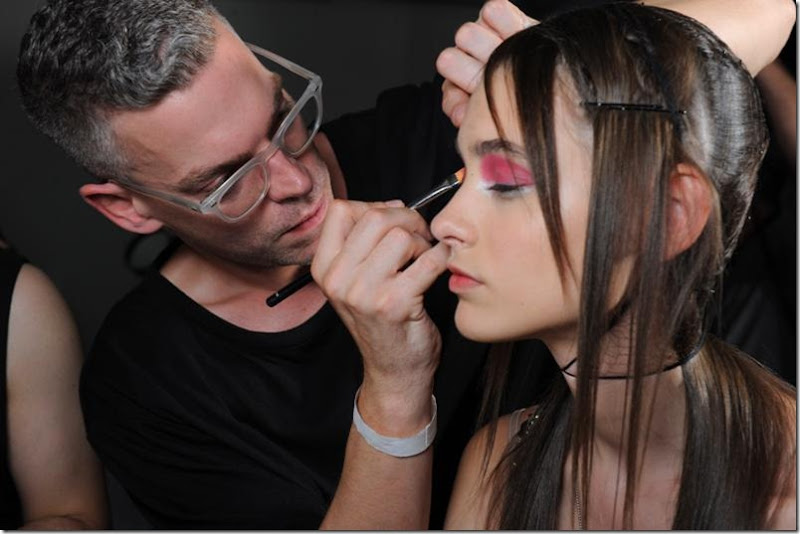 NARS Creatures of the Wind artist in action - lo res