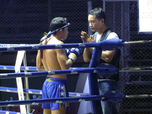 One of the warriors praying before starting the fight.