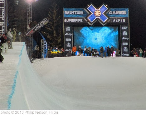 'Halfpipe practice - Winter X Games 14' photo (c) 2010, Philip Nelson - license: http://creativecommons.org/licenses/by-sa/2.0/