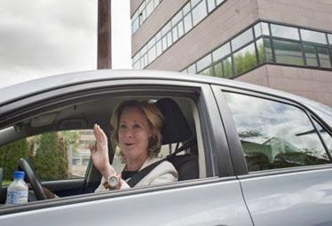 Aguirre en su coche