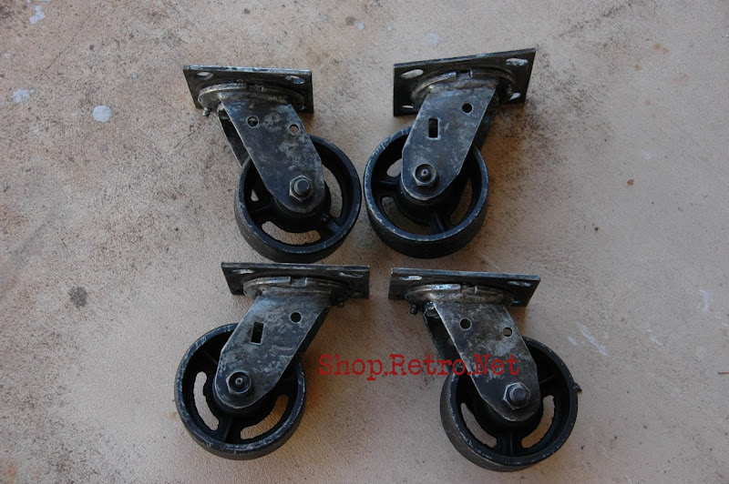 antique casters vintage industrial furniture. Black Bedroom Furniture Sets. Home Design Ideas