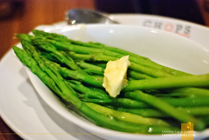 Steamed Asparagus at Chops Chicago Steakhouse