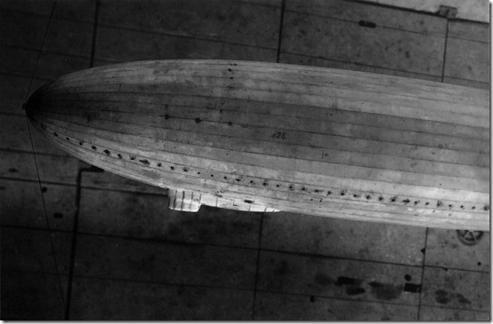 LZ 128 wind tunnel model