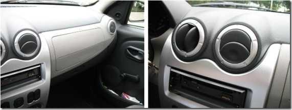 Dacia Sandero luchtroosters-console spuiten