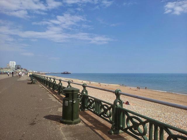 Brighton beach promenade Hove