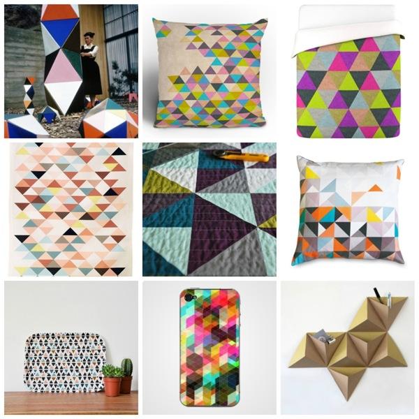 case e interni - Triangles - Collage