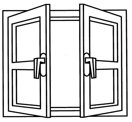 Dibujos de ventanas para colorear for Puerta en ingles