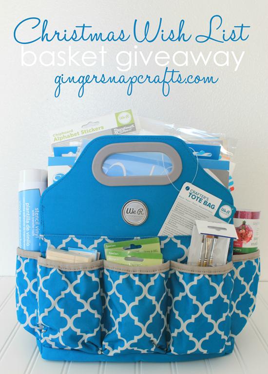 Christmas Wish List Basket Giveaway at GingerSnapCraft.com #giveaway #bloghop
