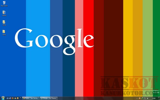 Google+ Plus Theme untuk Windows 7