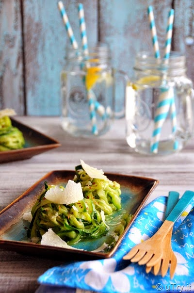 How to Make Zucchini Pasta—Naturally Gluten-Free and Low Carb Recipe  The perfect way to use up the zucchini from your garden!  http://uTry.it