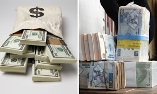 Des liasses de dollars amricains et du Franc congolais