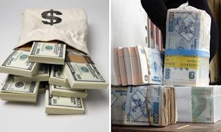 Des liasses de dollars américains et du Franc congolais