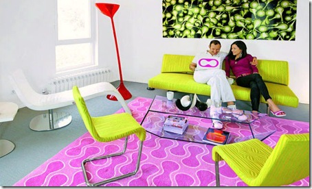 Karim Rashid and his wife Megan at home