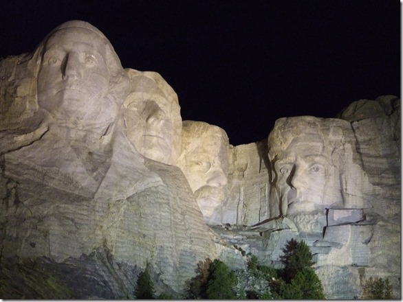 Mount Rushmore at Night - National Parks Image