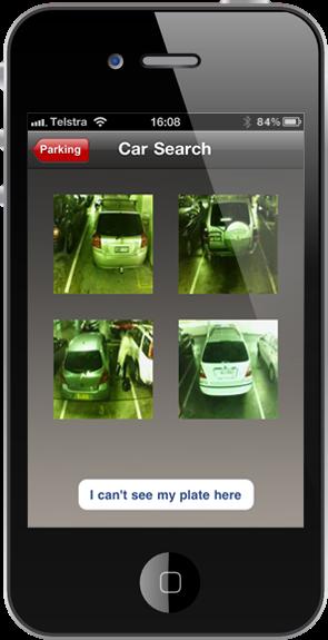 The Westfield car finder app