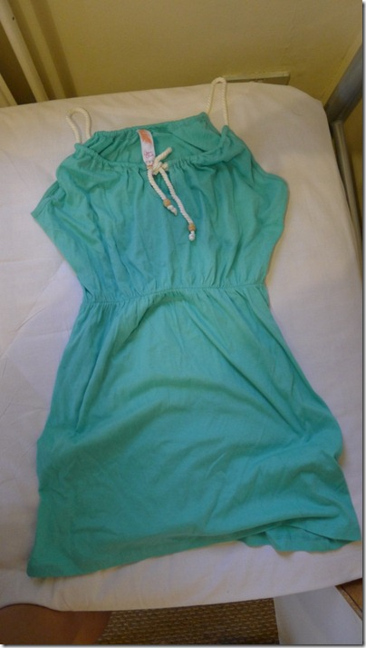 turquoise mini dress