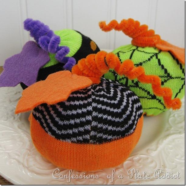 Halloween Sock Pumpkins
