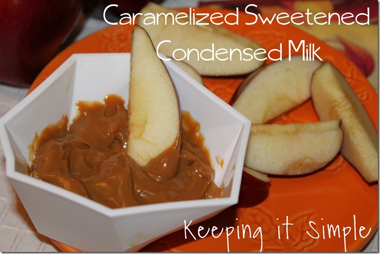 caramelized sweeten condensed milk