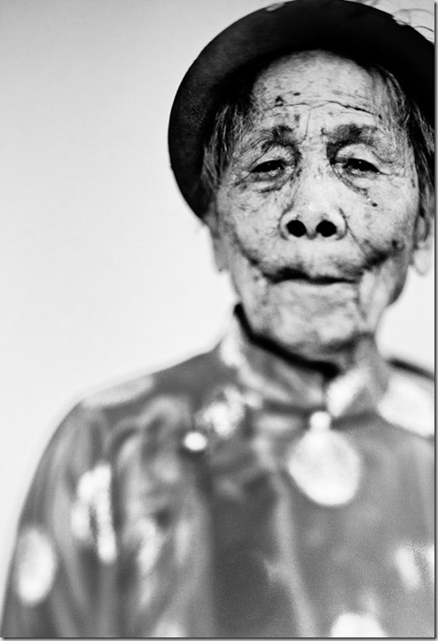 A 103-year-old woman in Hanoi, Vietnam