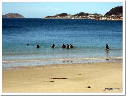 Diver training at Scorching Bay.