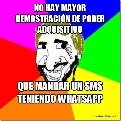 que mandar un SMS teniendo Whatsapp
