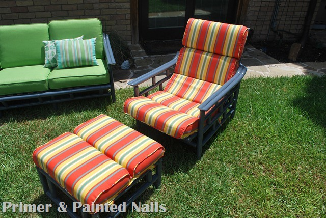 Bamboo Chair & Ottoman After