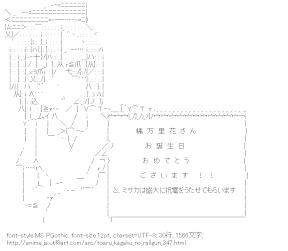 [AA]御坂妹 メッセージボード (とある科学の超電磁砲)